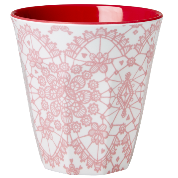Rice Becher 0,2l / Lace-Print-Coral